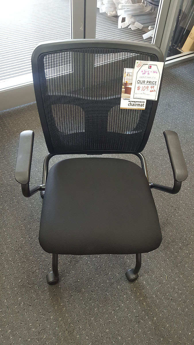 Lorell Mesh Back/Fabric Seat Nesting Chair (sold As Set Of 2)