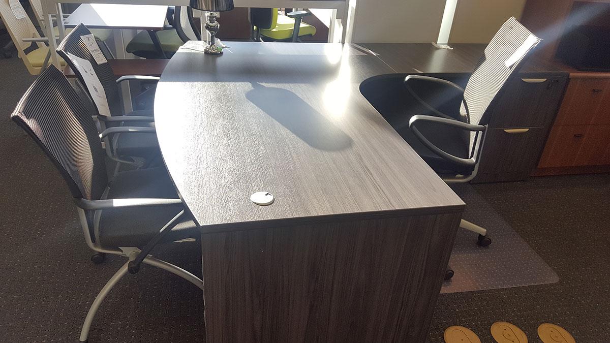 Office Source Bow Front Corner Extension Quot L Quot Desk Laber