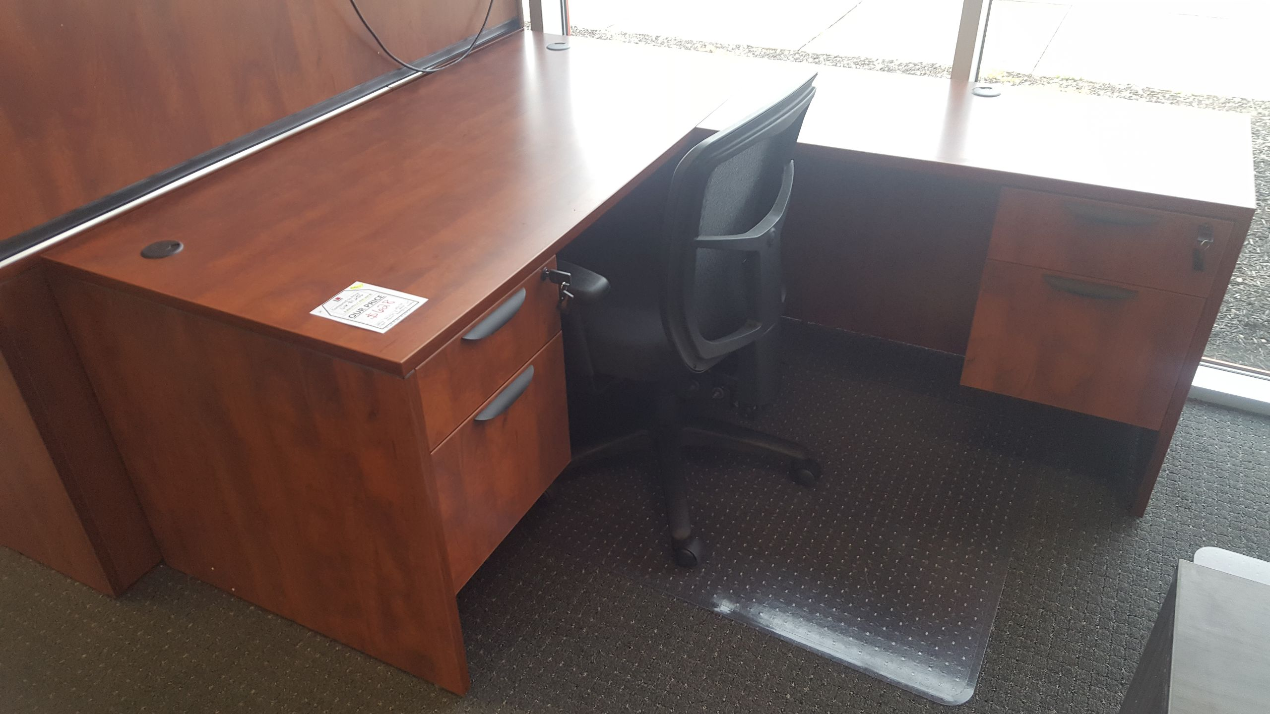 Office Source Right Return L Desk W Hanging Box Files