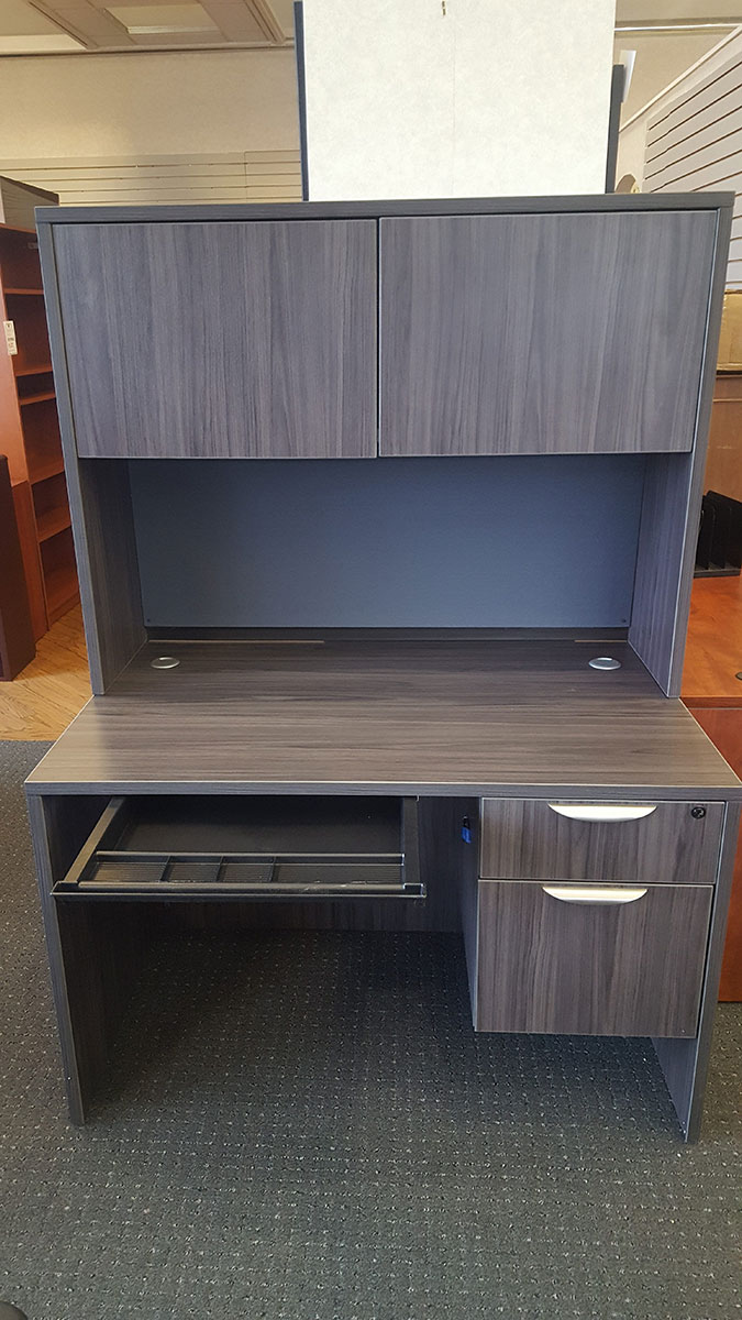 Office Source 48x30 Desk W Hutch Tackboard Box File