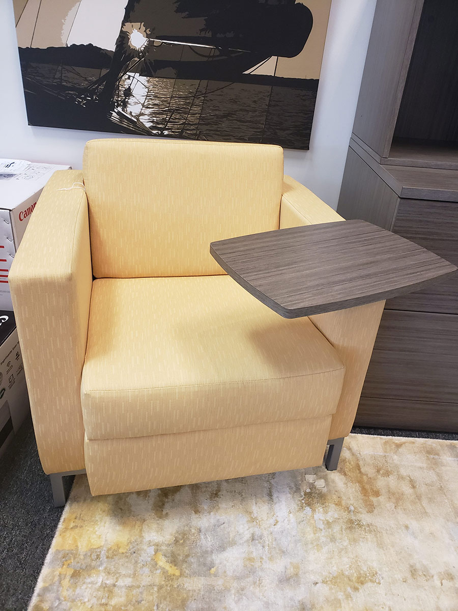 Global Citi Lounge Chair W Tablet Arm Laber S Furniture