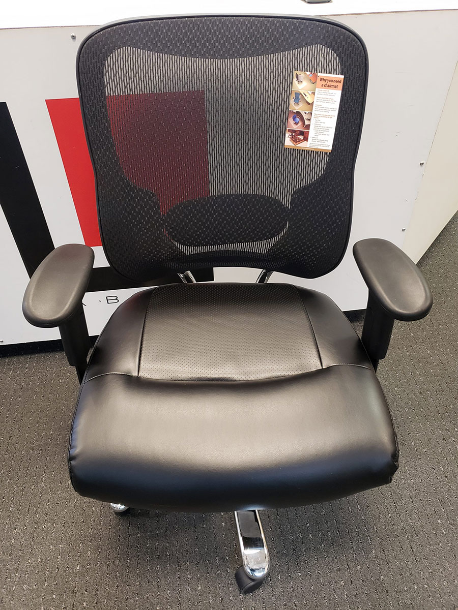 Lorell Big Amp Tall Mid Back Leather Task Chair Laber S